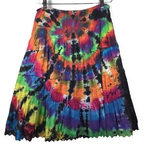 Anthropologie Odille tie dye skirt